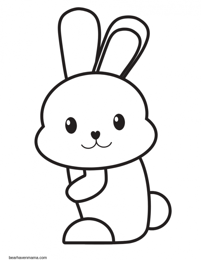 Free Printable Easter Bunny Coloring Book For Preschoolers